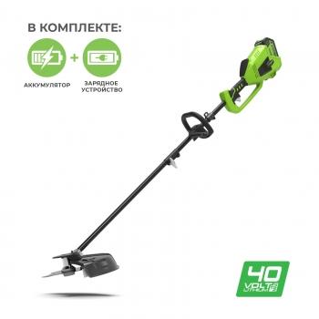Триммер аккумуляторный Greenworks GD40BCK4 c АКБ 4 Ah и ЗУ